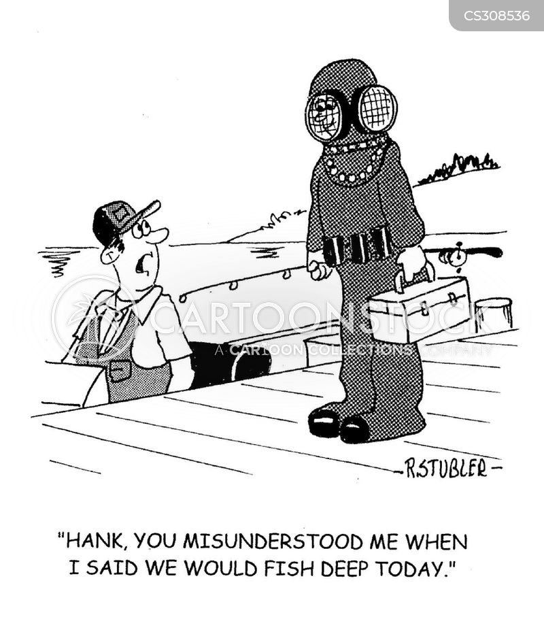 diving suits cartoon