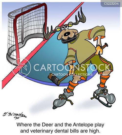 hockey puck cartoon