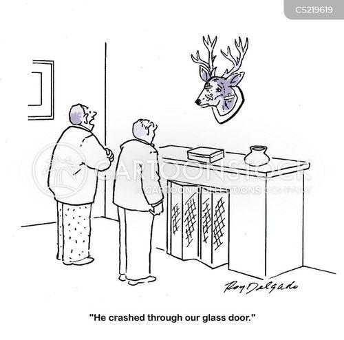 glass doors cartoon