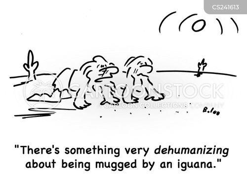 dehumanising cartoon
