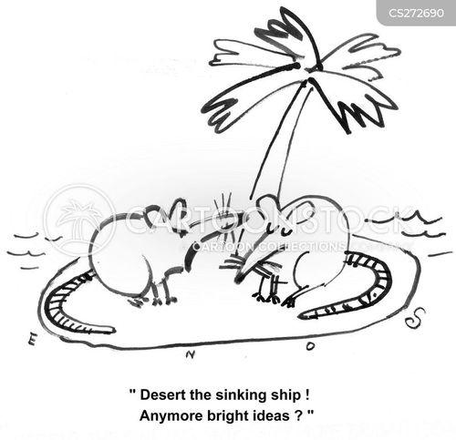 abandon ship cartoon