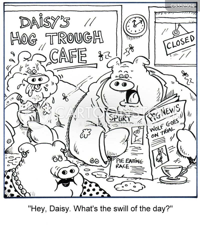 dish of the day cartoon