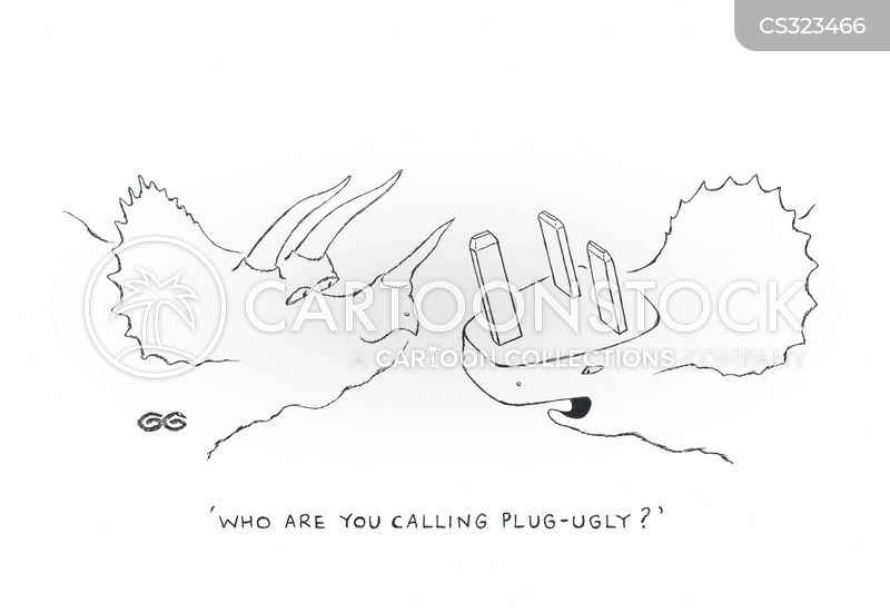 electric plugs cartoon