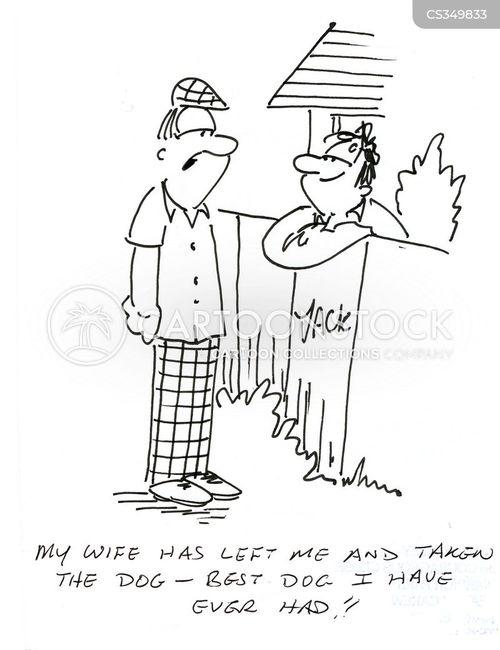 wife left cartoon