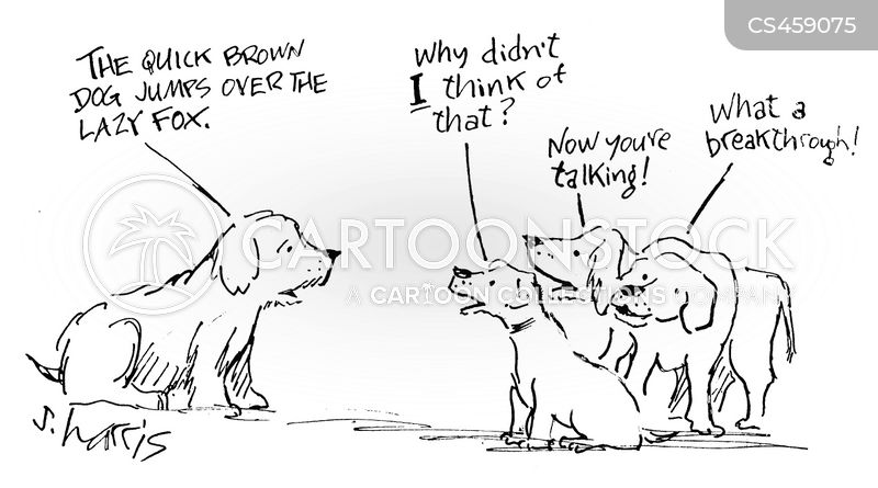 quick brown fox cartoons and comics funny pictures from cartoonstock