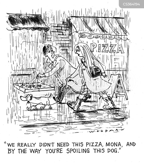 take away pizza cartoon