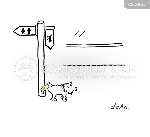 canine behavior cartoon