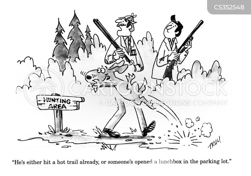 gun dog cartoon