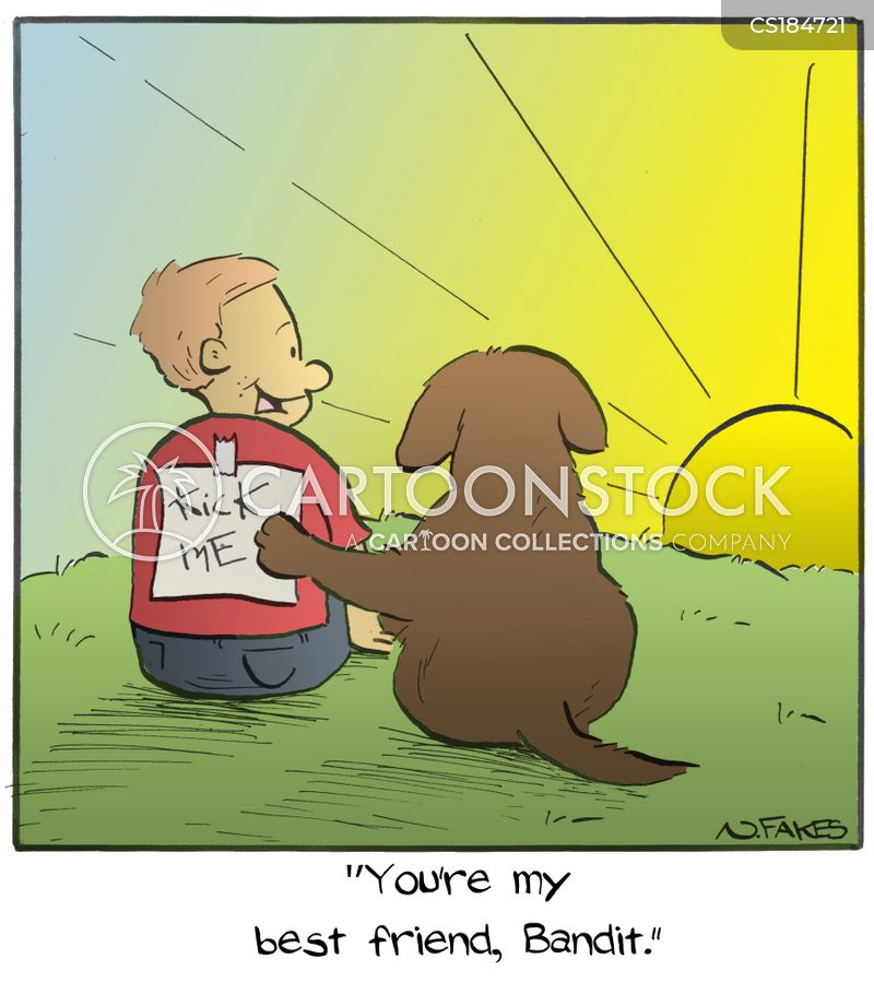 a boy and his dog cartoon