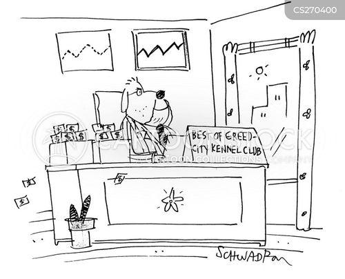dog clubs cartoon