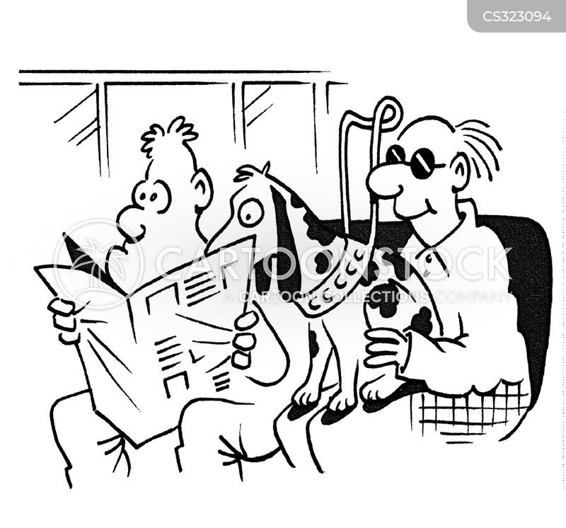 guide dogs for the blind cartoon