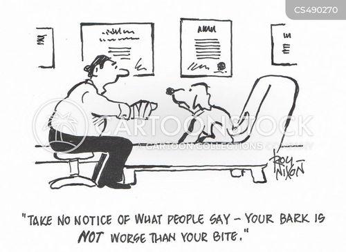 bark is worse than his bite cartoon
