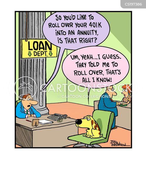 Mortgage Loan Cartoon Loan Departments Cartoon 1 of