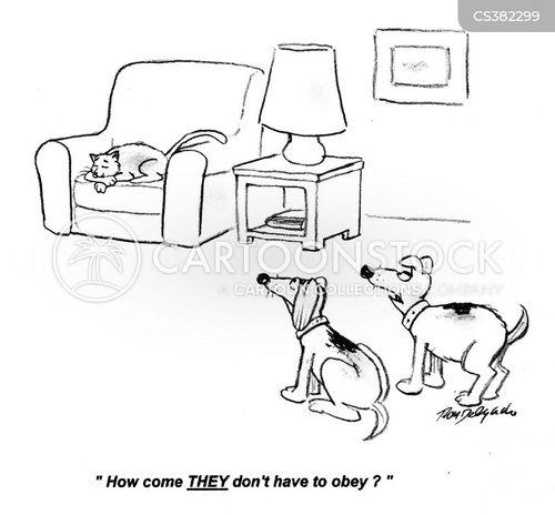 obeying cartoon