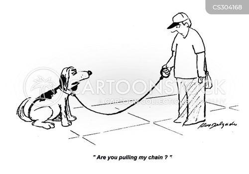 pulling your leg cartoon