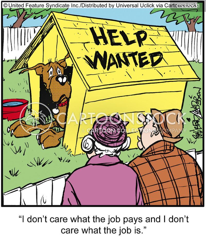 help wanted cartoon