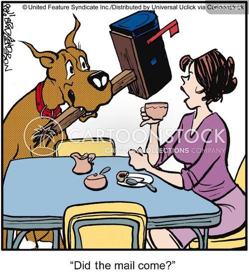 postboxes cartoon