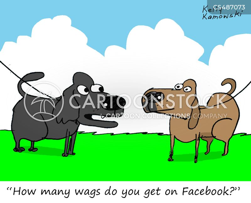 wagging tails cartoon