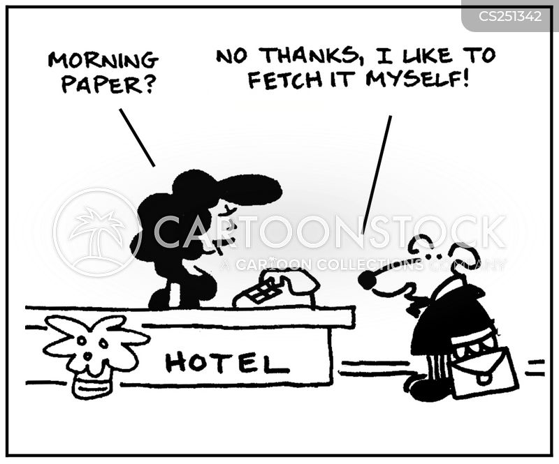 morning paper cartoon