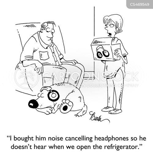 noise-cancelling headphone cartoon