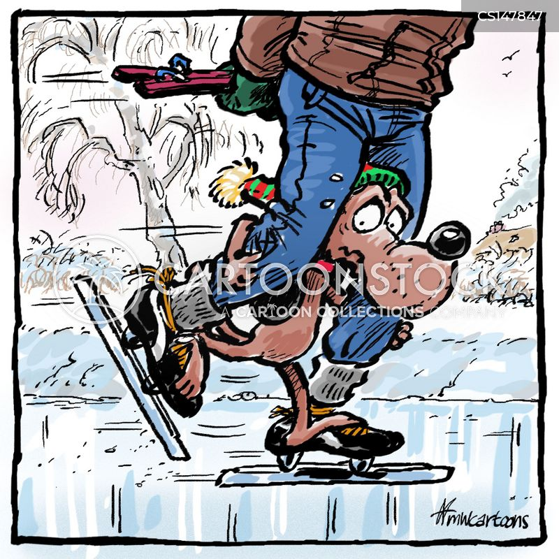 ice skaters cartoon