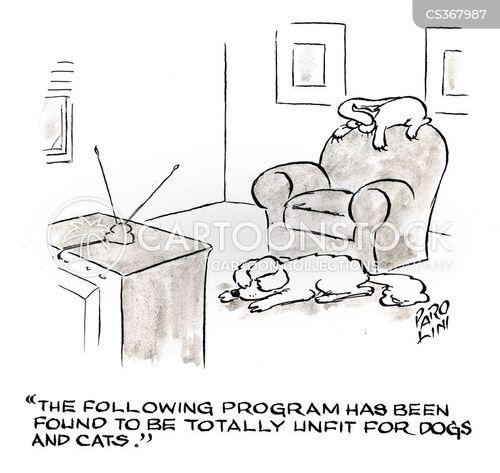 v program cartoon