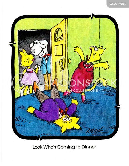 feinting cartoon
