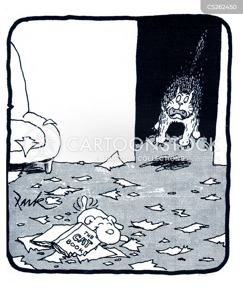 shredding paper cartoon