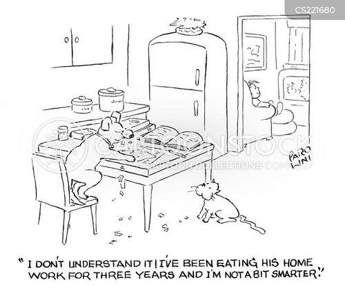 dog ate homework cartoon