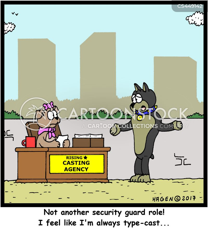 intimidating look cartoon