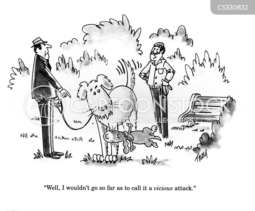 vicious attack cartoon