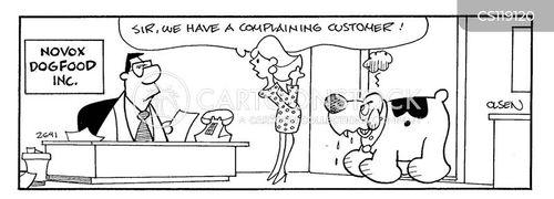 complaining customer cartoon