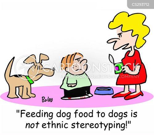feeding the dog cartoon