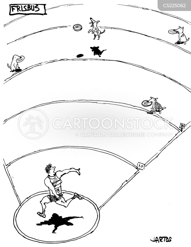 Discus Throw Field Discus Throwing Cartoon 2 of 3
