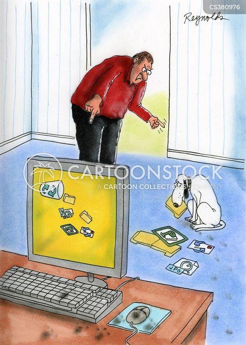 waste bins cartoon