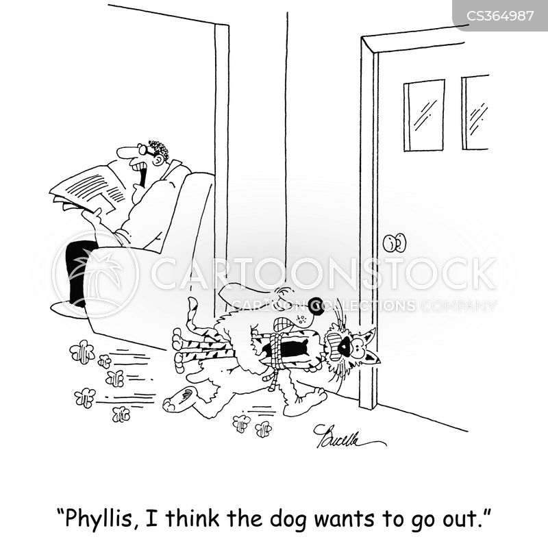take the dog out cartoon