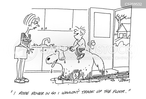 dirty dog cartoon