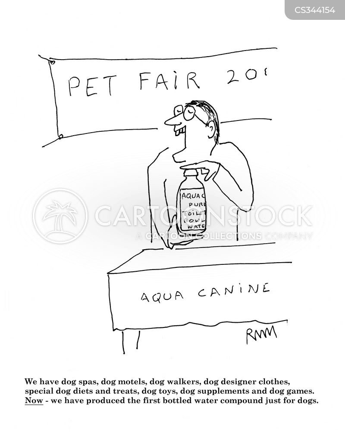 pet products cartoon