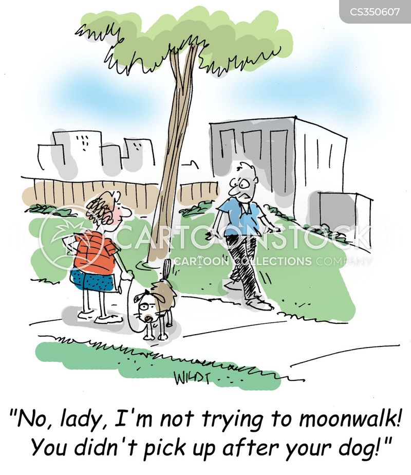 moonwalking cartoon