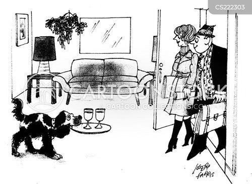 welcome home cartoon