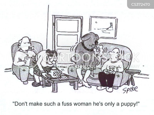 fussing cartoon