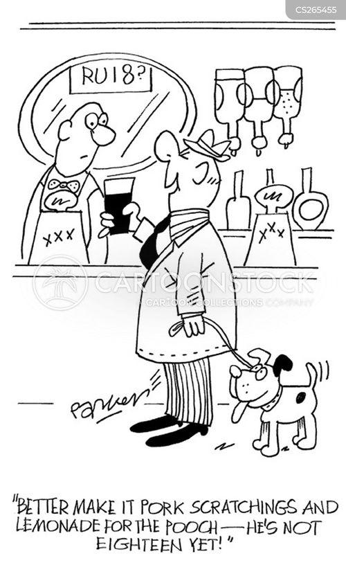 underage drinker cartoon