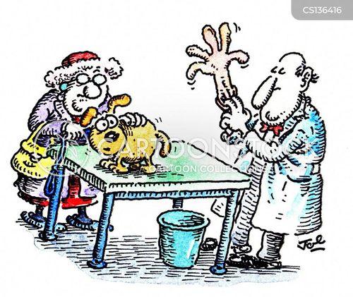rubber gloves cartoon