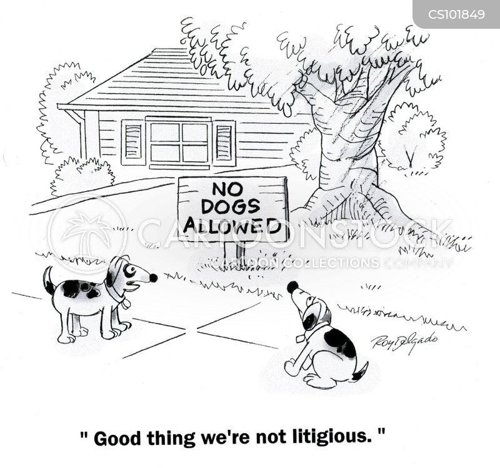 no dogs allowed cartoon