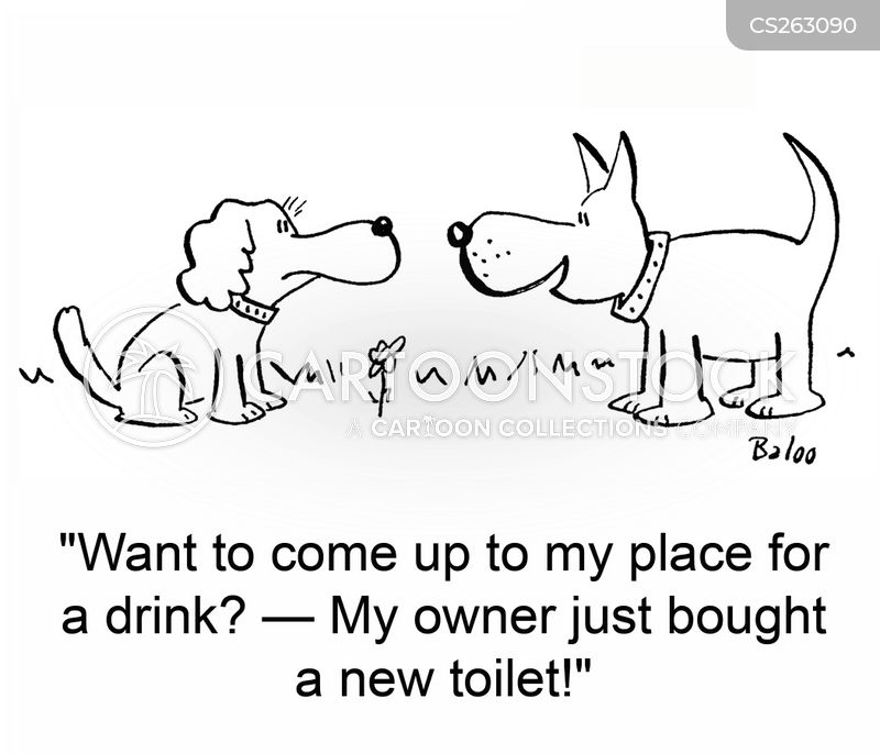 drinking from the toilet cartoon