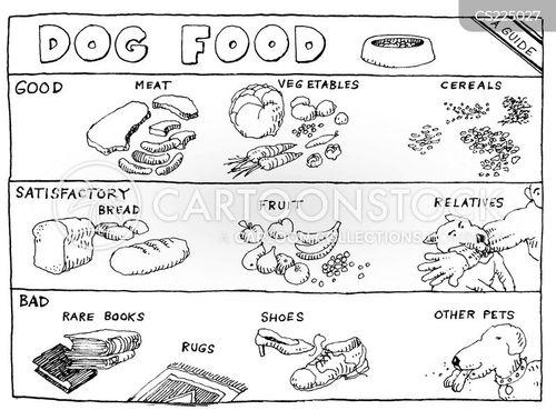 biting dog cartoon