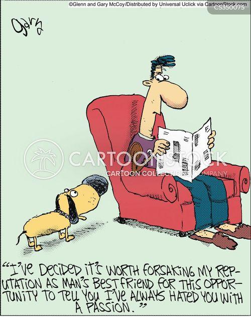 hating cartoon