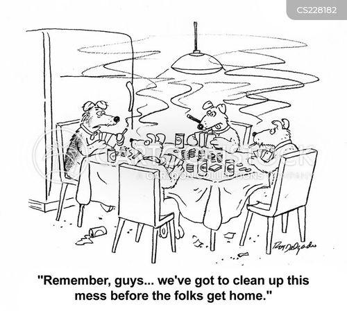 tidy up cartoon