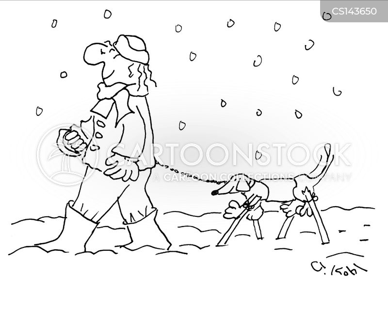 walking dog cartoon
