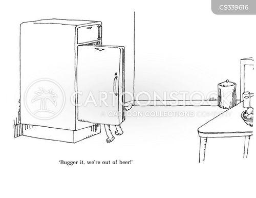 raiding the fridge cartoon